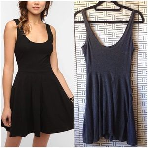 Urban Outfitters Sparkle & Fade Gray Skater Dress